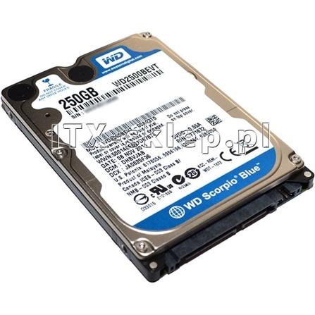 """Western Digital Scorpio Blue 250GB 2.5"""" SATA II 5400 8MB WD2500BPVT"""
