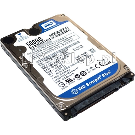 """Western Digital Scorpio Blue 500GB 2.5"""" SATA II 5400 8MB WD5000BPVT"""