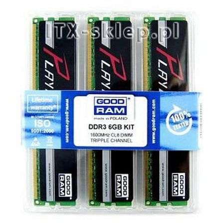 GoodRAM DDR3 6GB (3x2GB) 1600MHz PLAY CL8