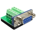 Adapter terminal RS-232 żeński Sub-D 9pin raster 3,81 mm