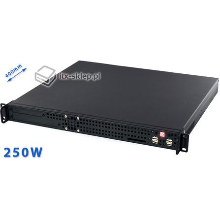"""Obudowa uniwersalna mini-ITX 19"""" Rack 1U Delta-R1U-ITX-2 250W"""
