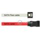 Kabel SATA 6 Gb/s elastyczny FLEXI prosty 50cm biały zatrzask HTPC 83504