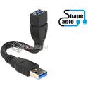 Elastyczny przedłużacz  USB 3.0 A-A krótki giętki 15cm M-F Delock 83713