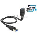 Elastyczny przedłużacz USB 3.0 A-A krótki giętki 50cm M-F Delock 83715