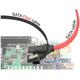 Kabel SATA 6 Gb/s elastyczny FLEXI prosty 20cm czarny zatrzask HTPC 83839