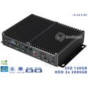 Rejestrator NVR Fanless Intel Core i7-4765T 2.00GHz 8GB SSD 120GB Delta-NVR1-i5-SSD120 9-24VDC Intel AMT vPRO