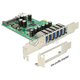 Kontroler 6xUSB 3.0 PCI-Express x1 złącza zewnętrzne Delock 89377