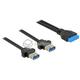 Kabel USB 3.0 wewnętrzny 19pin F - 2xUSB 3.0-A żeński Delock 85244