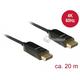Kabel optyczny DisplayPort 1.2 męski - męski 4K 60Hz 20m Delock 85520