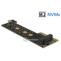 Adapter riser PCI Express x4 - 1x NVMe M.2 Key M Serwer 1U Delock 89929