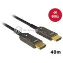 Kabel optyczny HDMI męski - męski 4K 60Hz 40m Delock 85678