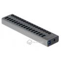 Hub USB 3.0 w metalowej obudowie 16-portowy z przełącznikiem Delock 63978