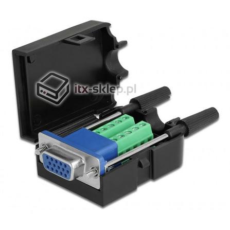 Adapter terminal VGA żeński w obudowie 10pin raster 3,81 mm