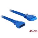 Przedłużacz USB 3.0 wewnętrzny 19pin M-F męsko-żeński 5Gbps 45cm