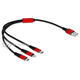 Kabel do ładowania USB 3w1 Apple Lightning micro-B USB-C 30cm Delock 85891