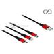 Kabel do ładowania USB 3w1 Apple Lightning micro-B USB-C 100cm Delock 85892