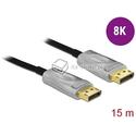 Aktywny kabel optyczny DisplayPort 1.4 męski - męski 8K HDR 15m Delock 85886