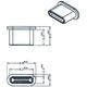 Zaślepka przeciwkurzowa gniazda USB Typ-C męska bez uchwytu biała Delock 64095