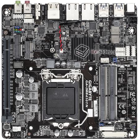 Gigabyte GA-IMB410TN Thin mini-ITX H410 Comet Lake LGA1200 3x HDMI 2xLAN 12-24V DC