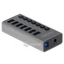Hub USB 3.0 zewnętrzny 7-portowy z przełącznikiem Delock 63975